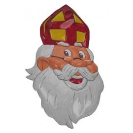 Wanddeco ''Sinterklaas met bril'' (40 x 62 cm)