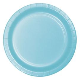 Bordjes pastel blue (Ø23cm, 8 stuks)