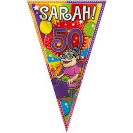 Mega Vlag ''Sarah 50 jaar'' (100x150cm)