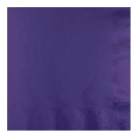 Servetten purple (33x33cm, 20 stuks)
