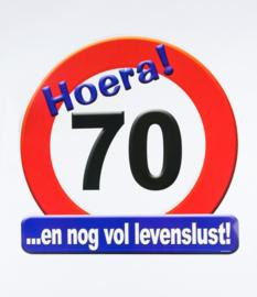 Verkeersbord ''70 jaar''