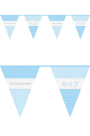 Vlaggenlijn ''Baby shower Jongen'' (10 meter)