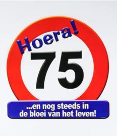 Verkeersbord ''75 jaar''