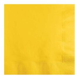 Servetten school. yellow (33x33cm, 20 stuks)