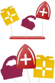 Decoratie plank ''Sint, Piet en Cadeau''