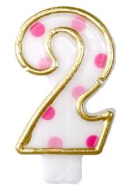 "Cijferkaars Roze ""2"""