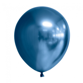 Ballonnen Chroom ''Blauw'' (10 stuks)