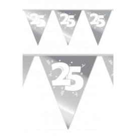 """Vlaggenlijn """"25 jaar Zilver'' (10 meter)"""