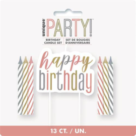 Prikkerkaarsjes ''Happy Birthday'' (13 stuks)