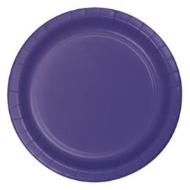 Bordjes purple (Ø23cm, 8 stuks)