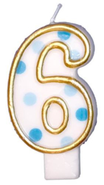 "Cijferkaars Blauw ""6"""