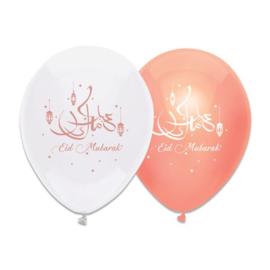 Ballonnen 'Eid Mubarak' (Ø30cm, 6 stuks)