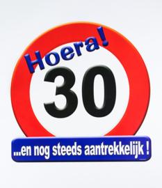 Verkeersbord ''30 jaar''