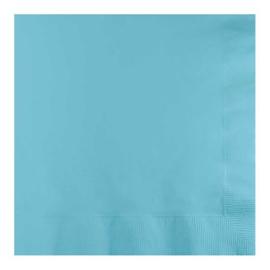 Servetten pastel blue (33x33cm, 20 stuks)