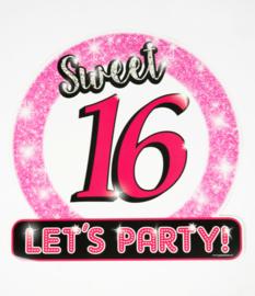 Verkeersbord ''Sweet 16''