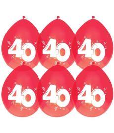 Ballonnen ''40 jaar Rood'' (8 stuks)