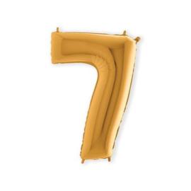 Folieballon ''Cijfer 7 goud'' (100cm)