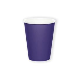 Bekertjes purple (266ml, 8 stuks)