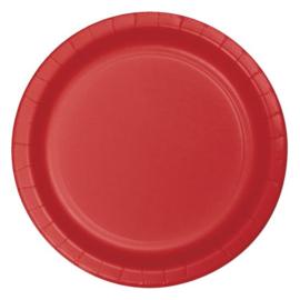 Bordjes classic red (Ø23cm, 8 stuks)