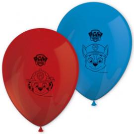 Ballonnen ''Paw patrol'' (8 stuks)