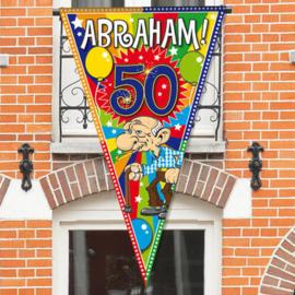 Mega Vlag ''Abraham 50 jaar'' (90x150cm)