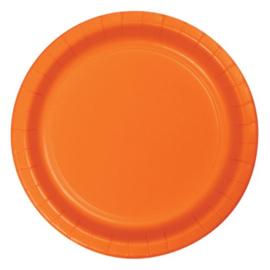 Bordjes sunkissed orange (Ø23cm, 8 stuks)