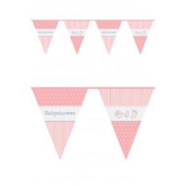Vlaggenlijn ''Babyshower Meisje'' (10 meter)