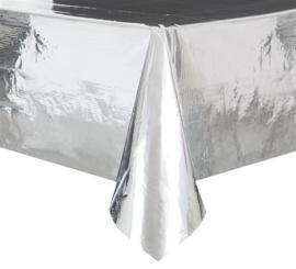 Tafelkleed ''Metallic Zilver'' (140x274cm)