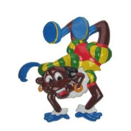 Wanddeco ''Piet acrobatisch'' (51 x 45 cm)
