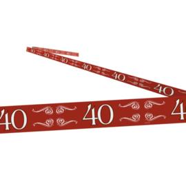 Afzetlint ''40 jaar getrouwd'' (15 meter)