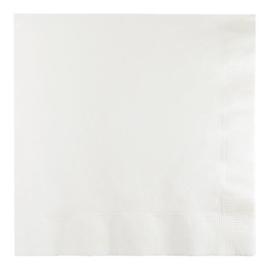 Servetten white (33x33cm, 20 stuks)