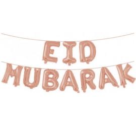 Folieballonnenset 'Eid Mubarak' roségoud