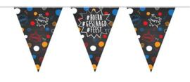 Vlaggenlijn ''Hoera geslaagd feest'' (10 meter)
