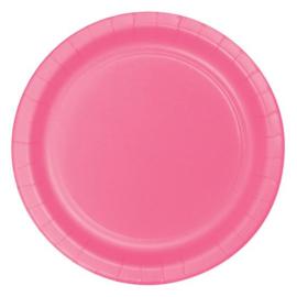 Bordjes candy pink (Ø23cm, 8 stuks)