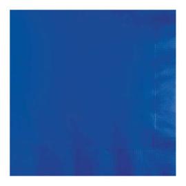 Servetten cobalt blue (33x33cm, 20 stuks)