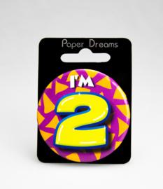 Button ''2 jaar'' (Klein)