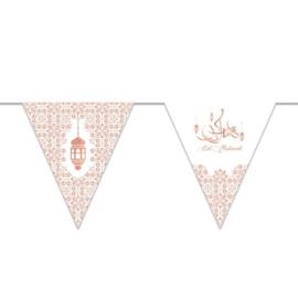 Vlaggenlijn 'Eid Mubarak' papier (3 meter)