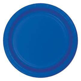 Bordjes cobalt blue (Ø23cm, 8 stuks)