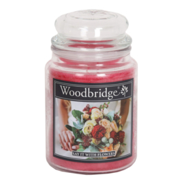 Woodbridge Say It With Flowers 565g Large Candle