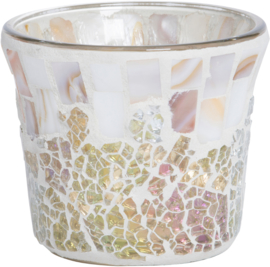 Yankee Candle Gold & Pearl Crackle Votive Holder