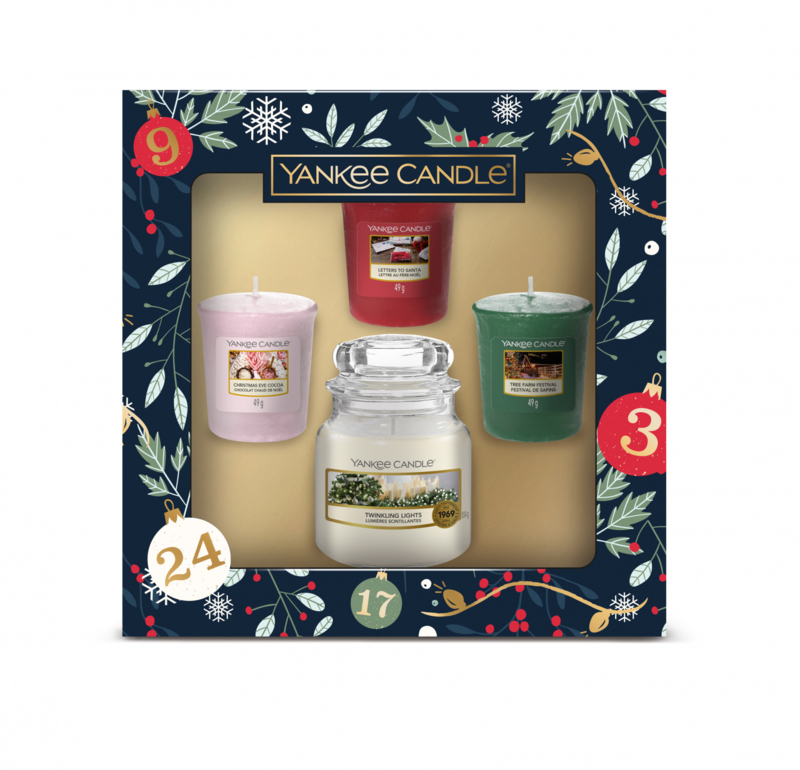 Yankee Candle Countdown To Christmas - 1 Small Jar & 3 Votives