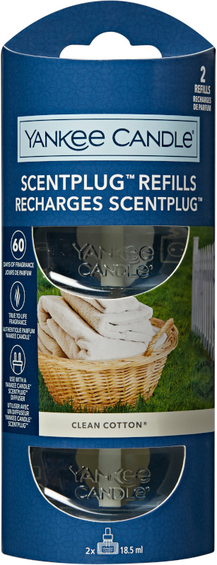 Yankee Candle Clean Cotton NEW ELECTRIC REFILL (2stuks)