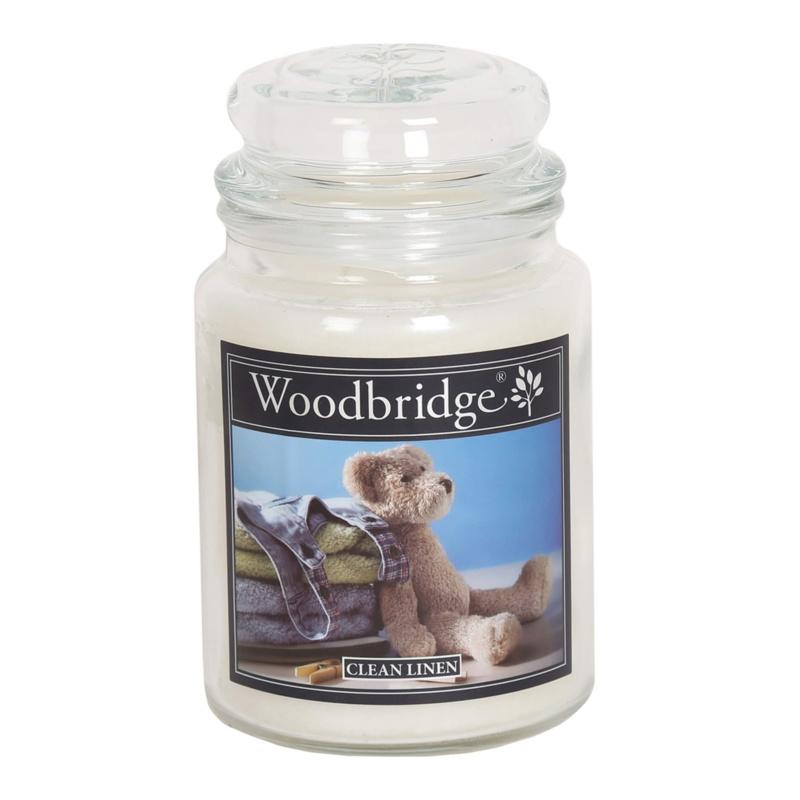 Woodbridge Clean Linen 565g Large Candle