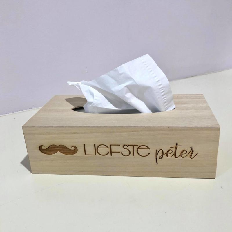 Zakdoekendoos 'Liefste Peter'