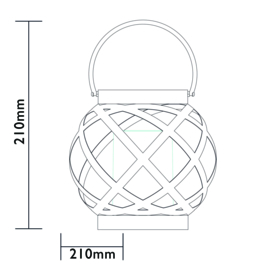 Swing - Vlameffect - Tafellamp op zonne-energie