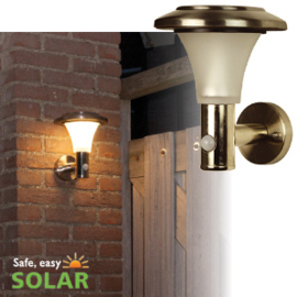 Calais Solar Muurlamp - Bewegingssensor - Hoge lichtopbrengst!