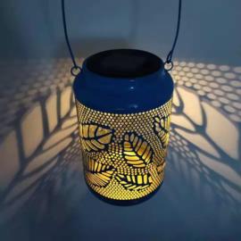 Bladmotief - Tafellamp - Turquoise