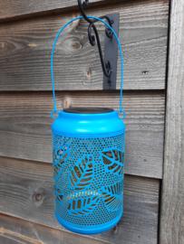 Bladmotief Turquoise - Solar Lantaarn - Tafellamp op zonne-energie