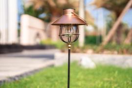 Retro Gold - Metaal - Solar Tuinsteker