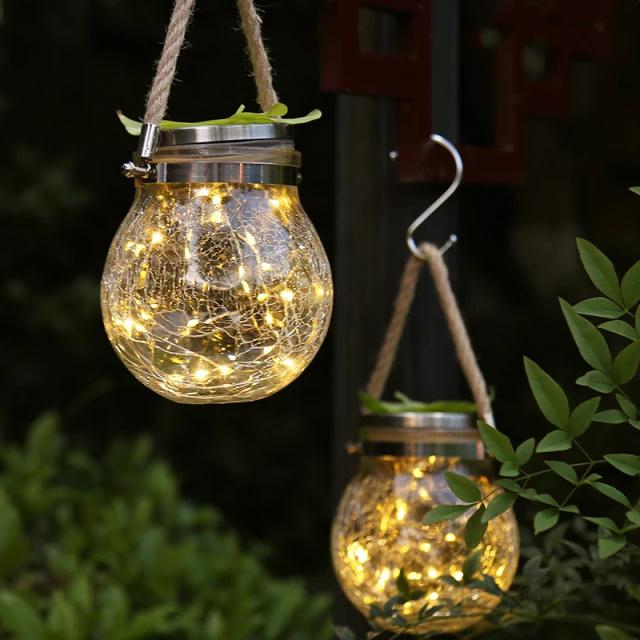Firefly Ball - Solar hanglamp van glas - Set van 2
